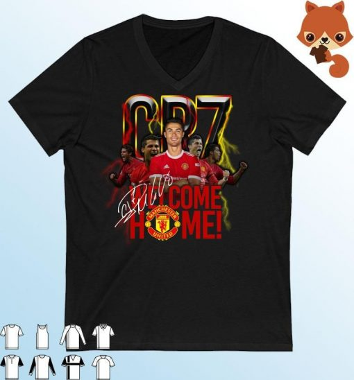 cr7 cristiano ronaldo signature welcome back to manchester united t shirt 155598