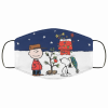 snoopy and charlie brown christmas face mask 155555