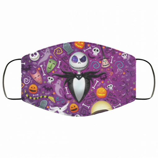 the nightmare before christmas jack skellington fabric face mask