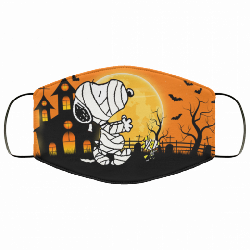 halloween snoopy woodstock fabric face mask 145540