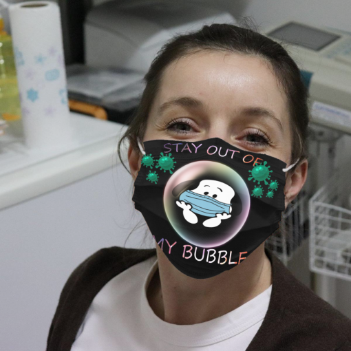 snoopy stay out of my bubble face mask 137473