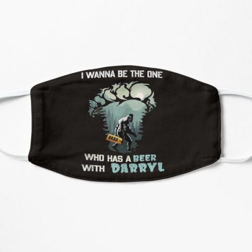 bigfoot i wanna be the one who has a beer with darryl fabric face mask 137441 1
