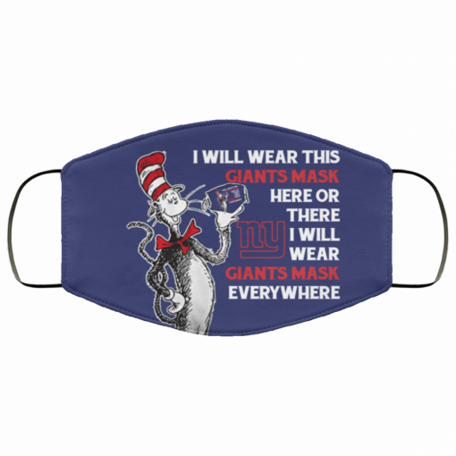 dr seuss i will wear this new york giants fabric face mask 137372