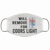 will remove for coors light face mask 137167