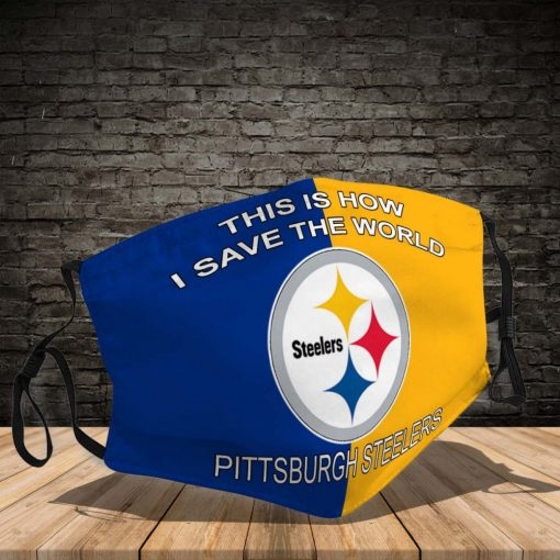 pittsburgh steelers this how i save the world face mask filter activated carbon 134442