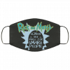 rick and morty school is not a place for smart people face mask 130782