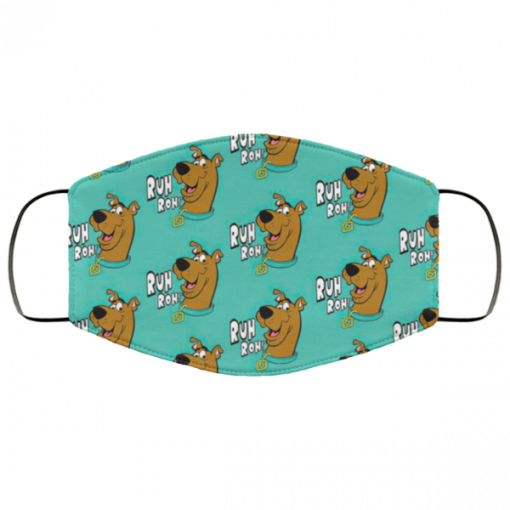 scooby doo ruh roh fabric face mask 129896 1