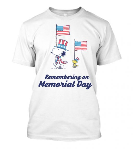 Snoopy 4th Of July Remembering On Memorial Day Shirt