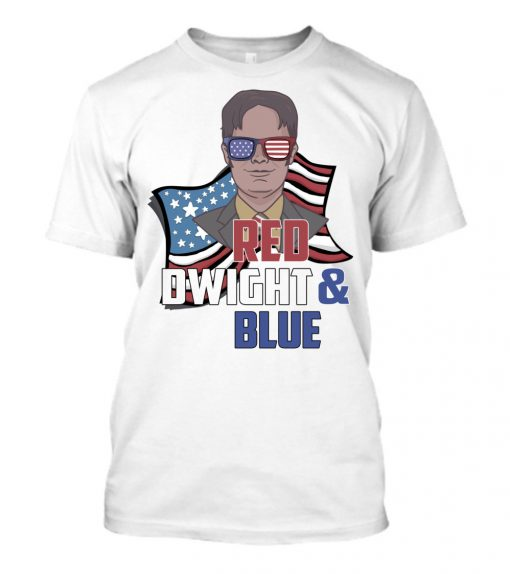 Red Dwight And Blue Shirt